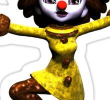Dancing Clown Sticker