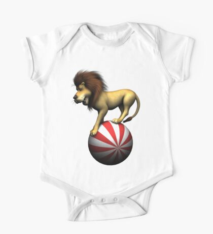 Circus Lion on Ball One Piece - Short Sleeve