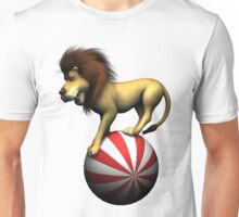 Circus Lion on Ball Unisex T-Shirt