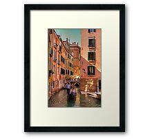 Gondola on the Rio Fuseri Framed Print