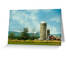 Welcome to Vermont - greeting card/ceramic mug/travel mug/tee shirt only Greeting Card