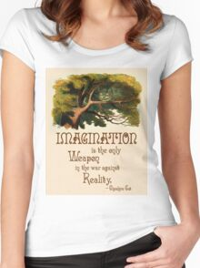 Alice in Wonderland Quote - We're All Mad Here - Cheshire Cat Quote - 0245 Women's Fitted Scoop T-Shirt
