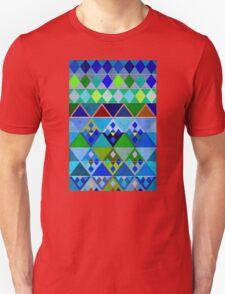 Cobalt blue diamond pattern Unisex T-Shirt
