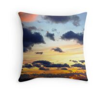 New Years Eve Sunset  Throw Pillow