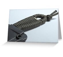 Utility OD Paracord Weave Greeting Card