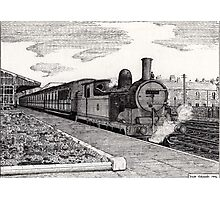 197 - STEAM TRAIN AT BLYTH (INK) 1994 Photographic Print