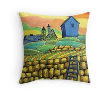 204 - SEATON SLUICE - 02 - COLOURED PENCILS - 2008 Throw Pillow