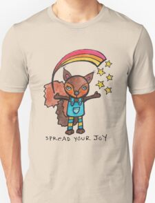 Spread Your Joy: Squirrel Illustration Unisex T-Shirt