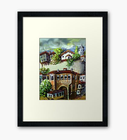 Storey of the old town Framed Print