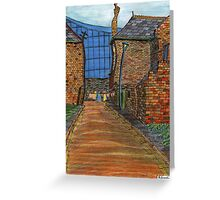 200 - COWPEN QUAY, BLYTH - COLOURED PENCILS - 2008 Greeting Card