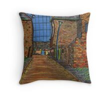 200 - COWPEN QUAY, BLYTH - COLOURED PENCILS - 2008 Throw Pillow