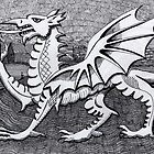 213 - WELSH DRAGON - DAVE EDWARDS - INK - 2007 by BLYTHART