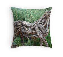 wooden figure  Throw Pillow