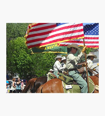Small Town America Parade Photographic Print