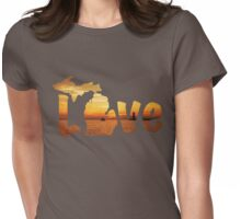 Michigan Love Womens Fitted T-Shirt