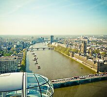 Top of the World - London Eye by Cheryl LaPrade