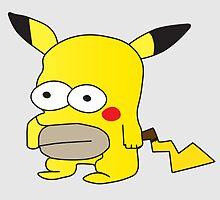 Pikachu + Homer Simpson by panos1994