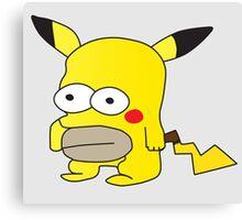 Pikachu + Homer Simpson Canvas Print