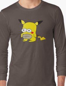 Pikachu + Homer Simpson Long Sleeve T-Shirt
