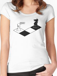 Knight Takes Pawn Women's Fitted Scoop T-Shirt