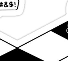Knight Takes Pawn Sticker