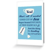 Doctor Who - 10 Tea Quote Greeting Card