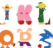 Gamer's Alphabet Sticker