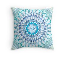 Mandala Green Throw Pillow