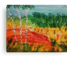 Lets pick flowers among the trees, watercolor Canvas Print
