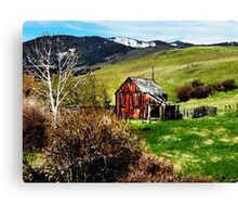 Montana Barn Canvas Print
