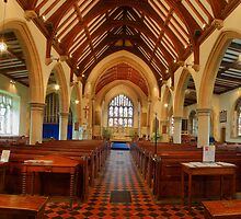 St George's Church Interior, Benenden by Dave Godden