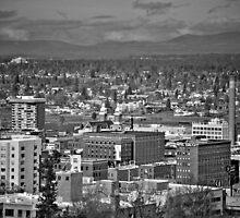 Downtown Spokane2 B&W by xavi8921