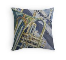 Brass, Winds, and Shadow Throw Pillow