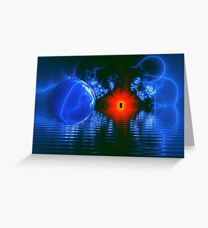 Strange Lights on the Lake Greeting Card