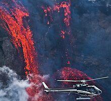 fimmvörðuháls eruption by Aron  Berndsen