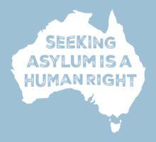 Seeking Asylum Is A Human Right (White) Kids Tee