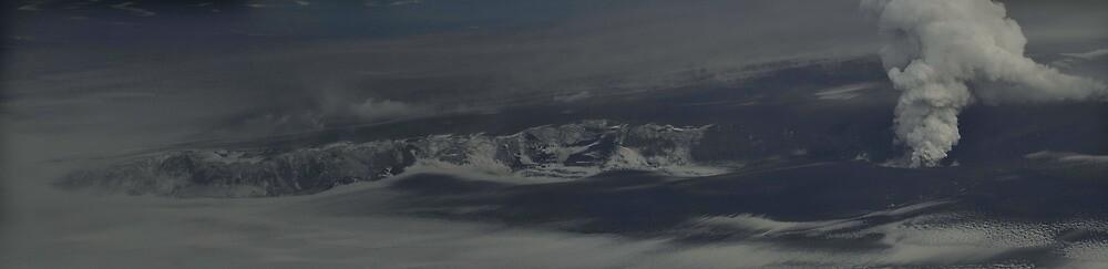 Grímsvötn eruption panorama by Aron  Berndsen