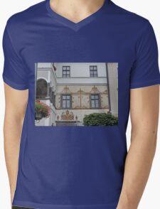 Facade, home of G.D. Thomas Beniczky Mens V-Neck T-Shirt