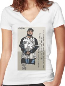 A$AP Yams Women's Fitted V-Neck T-Shirt
