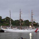 U.S. Coast Guard Ship,Waterford Quay,Ireland. by Pat Duggan