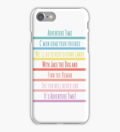Adventure Time Theme Song iPhone Case/Skin