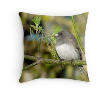 Spring Beginnings (Dark-eyed Junco) Throw Pillow