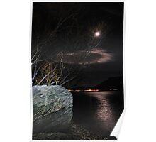 Moonlit Queenstown River Poster
