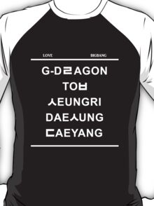 love bigbang black T-Shirt