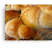 freshly baked croissants Metal Print