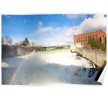 Rainbow over Spokane Falls Poster