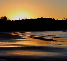 As the Sun Sets - Emu Park by Kate Trenerry