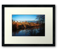 Spokane River near Spokane Community College Framed Print