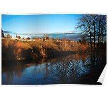 Spokane River near Spokane Community College Poster