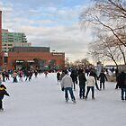Skating at Toronto's Harbourfront by Gerda Grice